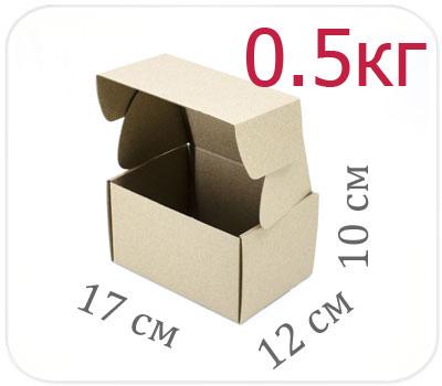 Фото товара Коробка микрогофрокартон 17х12х10 см (0,5 кг)