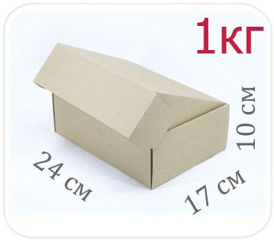 Фото товара Коробка микрогофрокартон 24х17х10 см (1 кг)