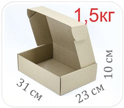 Фото товара Коробка микрогофрокартон 31х23х10 см (1,5 кг)
