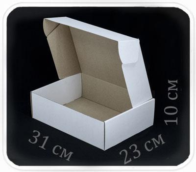 Фото товара Коробка микрогофрокартон 31х23х10 см (белая)