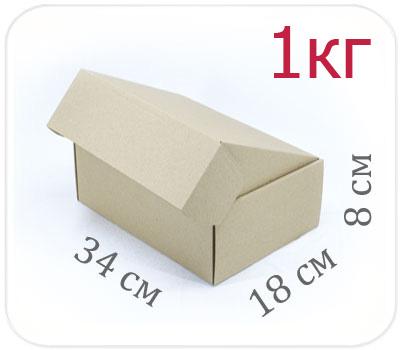 Фото товара Коробка микрогофрокартон 34х18х8 см (1 кг)