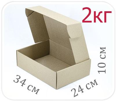 Фото товара Коробка микрогофрокартон 34х24х10 см (2 кг)