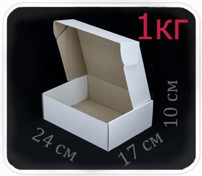 Фото товара Коробка микрогофрокартон 24х17х10 см (белая, 1 кг)