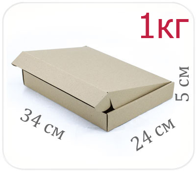 Фото товара Коробка микрогофрокартон 34х24х5 см (1 кг)