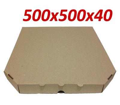 Фото товара Коробка для пиццы коричневая 500х500х40 мм