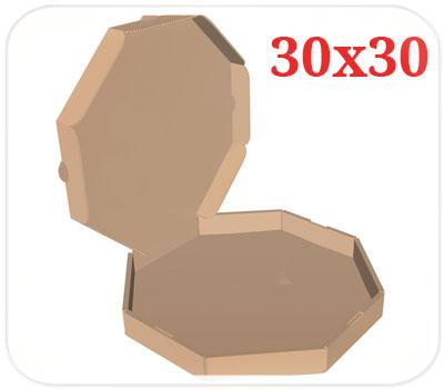 Фото товара Коробка для пиццы коричневая 30х30
