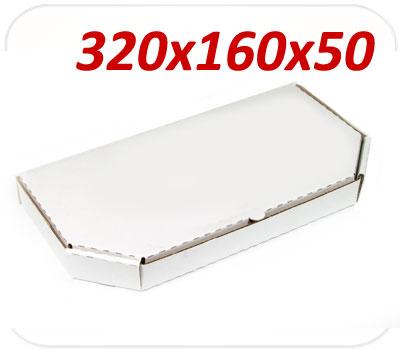 Фото товара Коробка для половины пиццы 320х160х50 мм