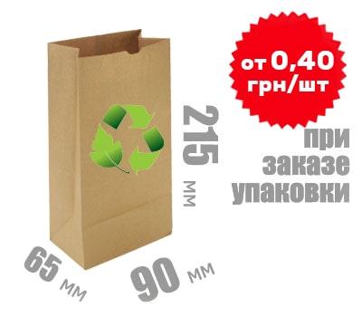 Фото товара Бумажный крафт пакет 215х90х65