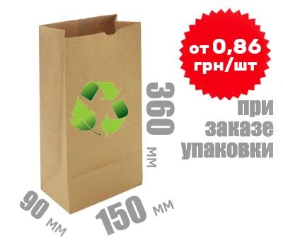 Фото товара Бумажный крафт пакет 360х150х90