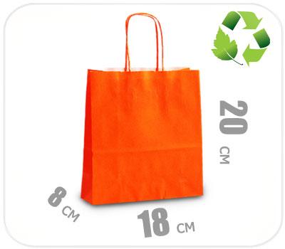 Фото товара Оранжевый крафт пакет 180х80х200мм