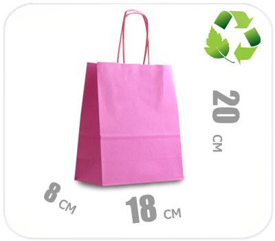Фото товара Розовый крафт пакет 180х80х200мм