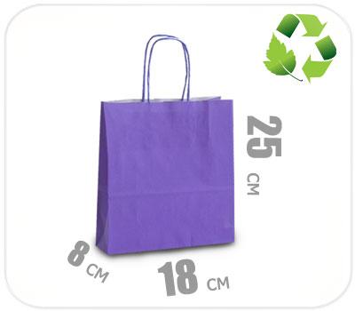 Фото товара Фиолетовый крафт пакет 180х80х250мм