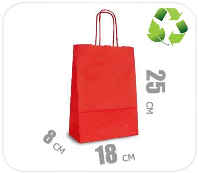 Фото товара Красный крафт пакет 180х80х250мм