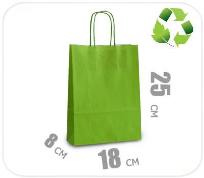 Фото товара Светло-зеленый крафт пакет 180х80х250мм
