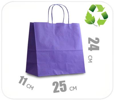 Фото товара Фиолетовый крафт пакет 250х110х240мм