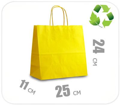 Фото товара Желтый крафт пакет 250х110х240мм
