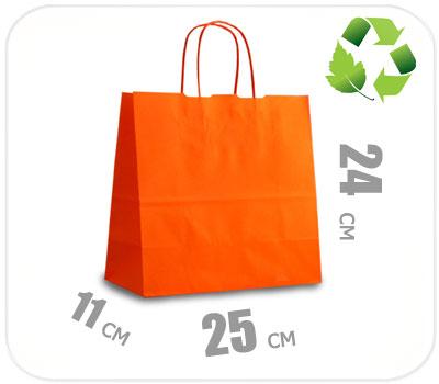 Фото товара Оранжевый крафт пакет 250х110х240мм