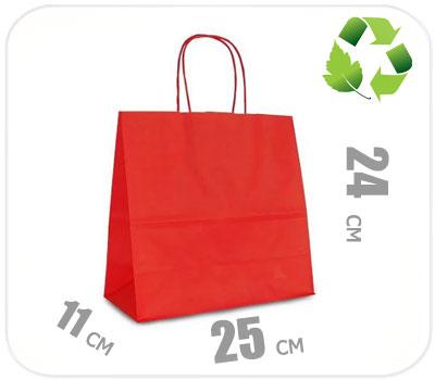 Фото товара Красный крафт пакет 250х110х240мм