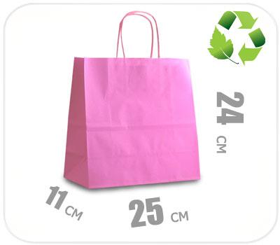 Фото товара Розовый крафт пакет 250х110х240мм
