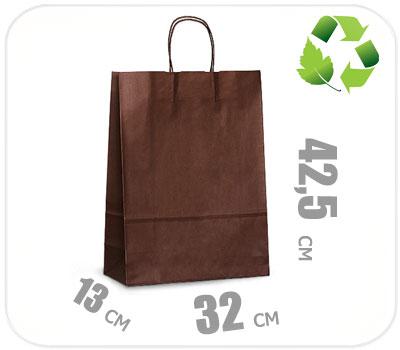 Фото товара Шоколадный крафт пакет 320х130х425мм