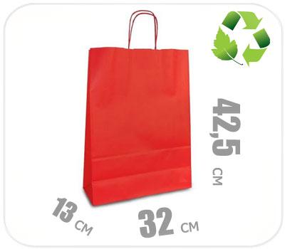 Фото товара Красный крафт пакет 320х130х425мм