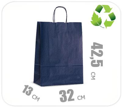 Фото товара Синий крафт пакет 320х130х425мм