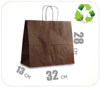 Фото товара Шоколадный крафт пакет 320х130х280мм