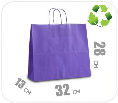 Фото товара Фиолетовый крафт пакет 320х130х280мм