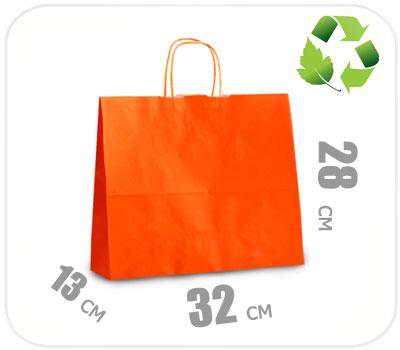 Фото товара Оранжевый крафт пакет 320х130х280мм