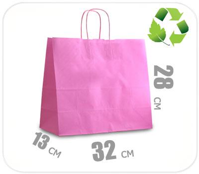 Фото товара Розовый крафт пакет 320х130х280мм
