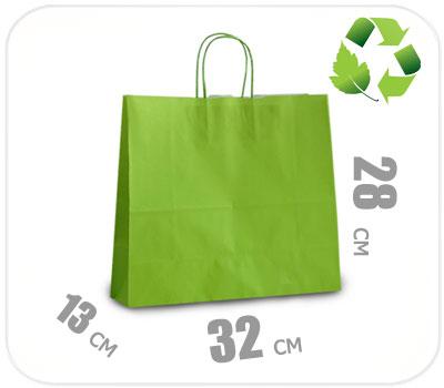 Фото товара Светло-зеленый крафт пакет 320х130х280мм
