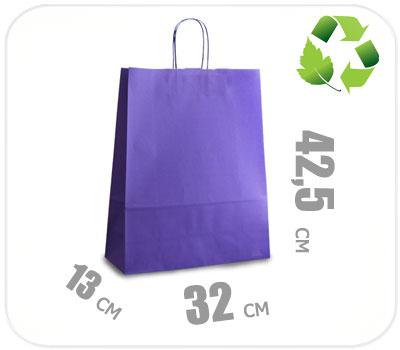 Фото товара Фиолетовый крафт пакет 320х130х425мм