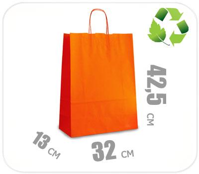 Фото товара Оранжевый крафт пакет 320х130х425мм