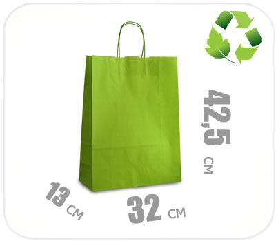 Фото товара Светло-зеленый крафт пакет 320х130х425мм
