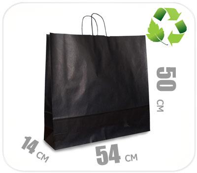 Фото товара Черный крафт пакет 540х140х500мм
