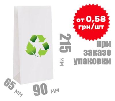 Фото товара Белый крафт пакет 215х90х65