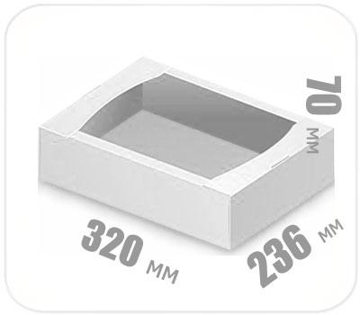 Фото товара Гофролоток белый 320х236х70 мм