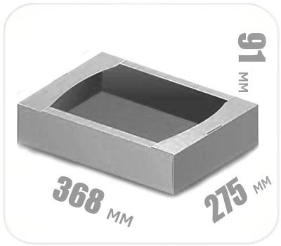 Фото товара Гофролоток бело-серый 368х275х91 мм