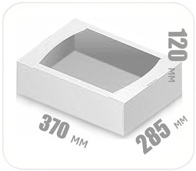 Фото товара Гофролоток белый 370х285х120 мм