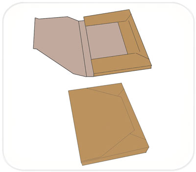 Фото товара Папки из двухслойного гофрокартона бурые
