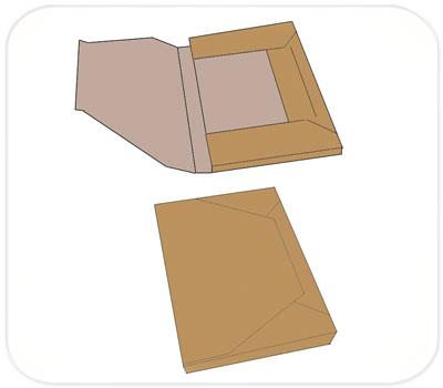 Фото товара Папки из трехслойного гофрокартона бурые
