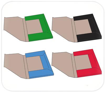 Фото товара Папки из трехслойного гофрокартона цветные