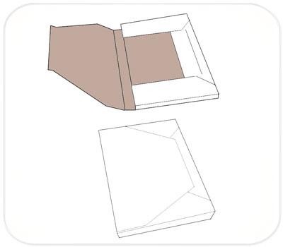 Фото товара Папки из трехслойного гофрокартона белые