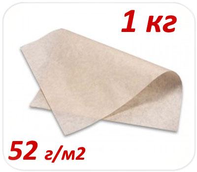 Фото товара Подпергамент пищевой пачка 1 кг 52 г/м2 (420х600мм, 420х300мм)
