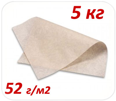 Фото товара Подпергамент пищевой пачка 5 кг 52 г/м2 (420х600мм, 420х300мм)