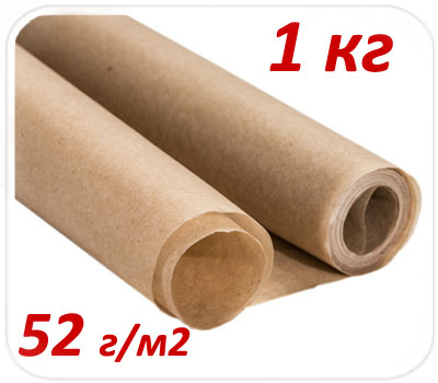Фото товара Подпергамент пищевой в рулоне 1 кг 52 г/м2