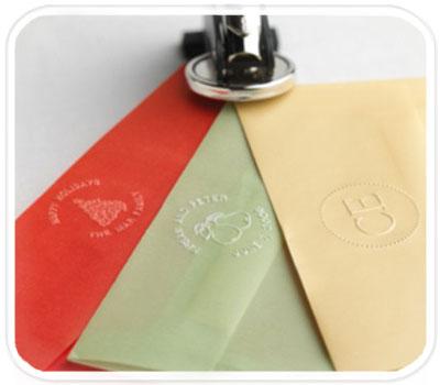 Фото товара Рельефная печать для конвертов с вашим лого