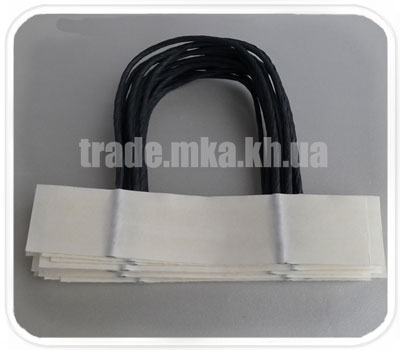 Фото товара Бумажные ручки для пакетов двухслойные (Черный цвет)