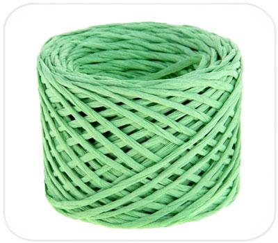 Фото товара Бумажный крафт шпагат зеленый