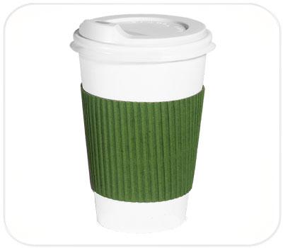 Фото товара Зеленый капхолдер (термопояс) для стакана